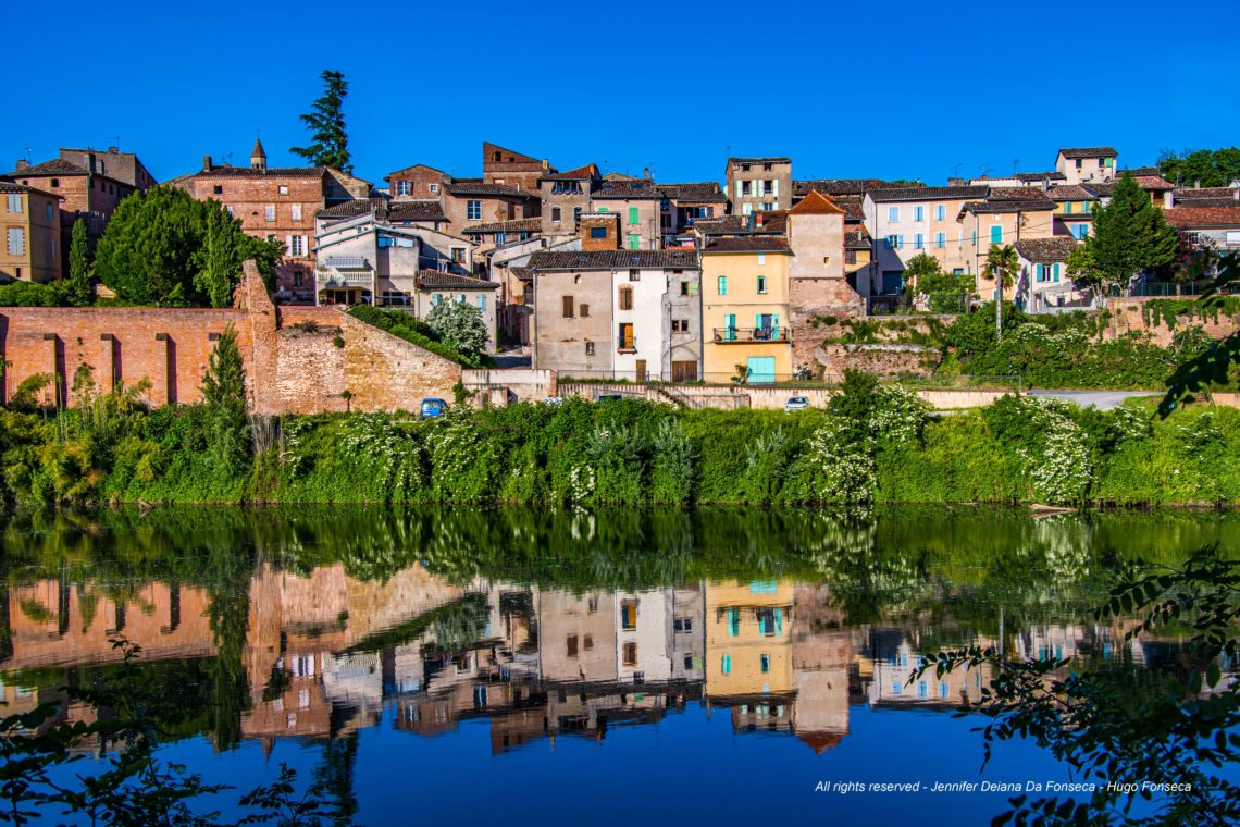 Reflection on the Gaillac river